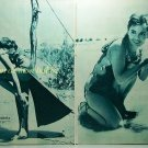 Rossana Podesta / Anouk Aimee SODOM AND GOMORRAH clipping pinup 3pages 1962 : 62s1
