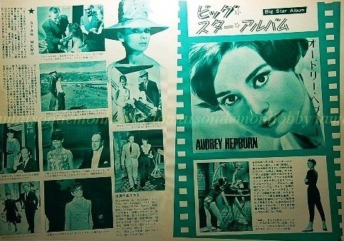 Audrey Hepburn Star Memory clipping pinup 5pages 1971 : 71s2