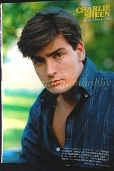 Charlie Sheen / Jackie Chan  clipping pinup 1987 : 87s7