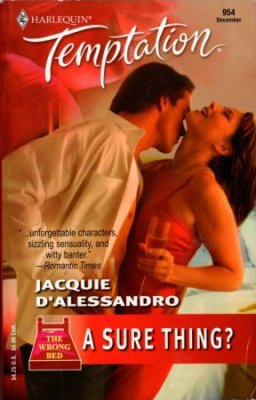 A Sure Thing by Jacquie D'Alessandro Harlequin Temptation Book Novel 0373691548
