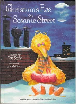 Christmas Eve On Sesame Street by Jon Stone Hardcover Book 0394847334