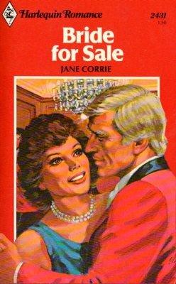 Bride for Sale by Jane Corrie Harlequin Romance Book Fiction Fantasy Love Novel