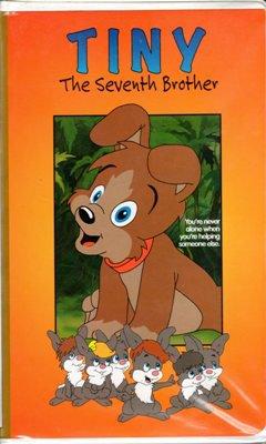 Tiny The Seventh Brother VHS Movie Kurt Bestor Merrill Jenson Puppy Rabbits Cartoon Separated