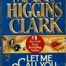 Let Me Call You Sweetheart by Mary Higgins Clark Book Novel Paperback 0671568175