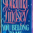 You Belong To Me by Johanna Lindsay Fiction Fantasy Romance Book Novel 0380762587