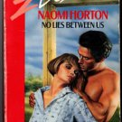 No Lies Between Us by Naomi Horton Silhouette Desire Ex-Library Book Novel 0373056567