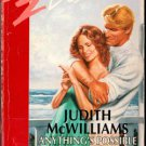Anything's Possible by Judith McWilliams Silhouette Desire Ex-Library 0373059116