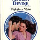 Wife For A Night by Angela Devine Harlequin Presents Ex-Library Book 0373115385