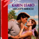 Megan's Miracle by Karen Leabo Silhouette Desire Ex-Library Book Novel 0373058802