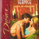 At Your Service by Amy Jo Cousins Silhouette Desire Romance Novel Book 0373765606
