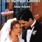 The Marriage Contract by Anna Adams Harlequin SuperRomance Novel Book 0373709595