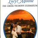 The Greek Tycoon's Ultimatum by Lucy Monroe Harlequin Presents Book 0373123531