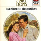 Passionate Deception by Mary Lyons Harlequin Presents Novel Book 0373109083