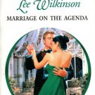 Marriage On The Agenda by Lee Wilkinson Harlequin Presents Novel Book 0373122284