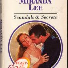 Scandals & Secrets by Miranda Lee Harlequin Presents Love Romance Novel Book 0373117787