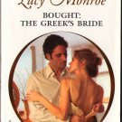 Bought: The Greek's Bride by Lucy Monroe Fiction Fantasy Harlequin Presents Romance Book 0373126360