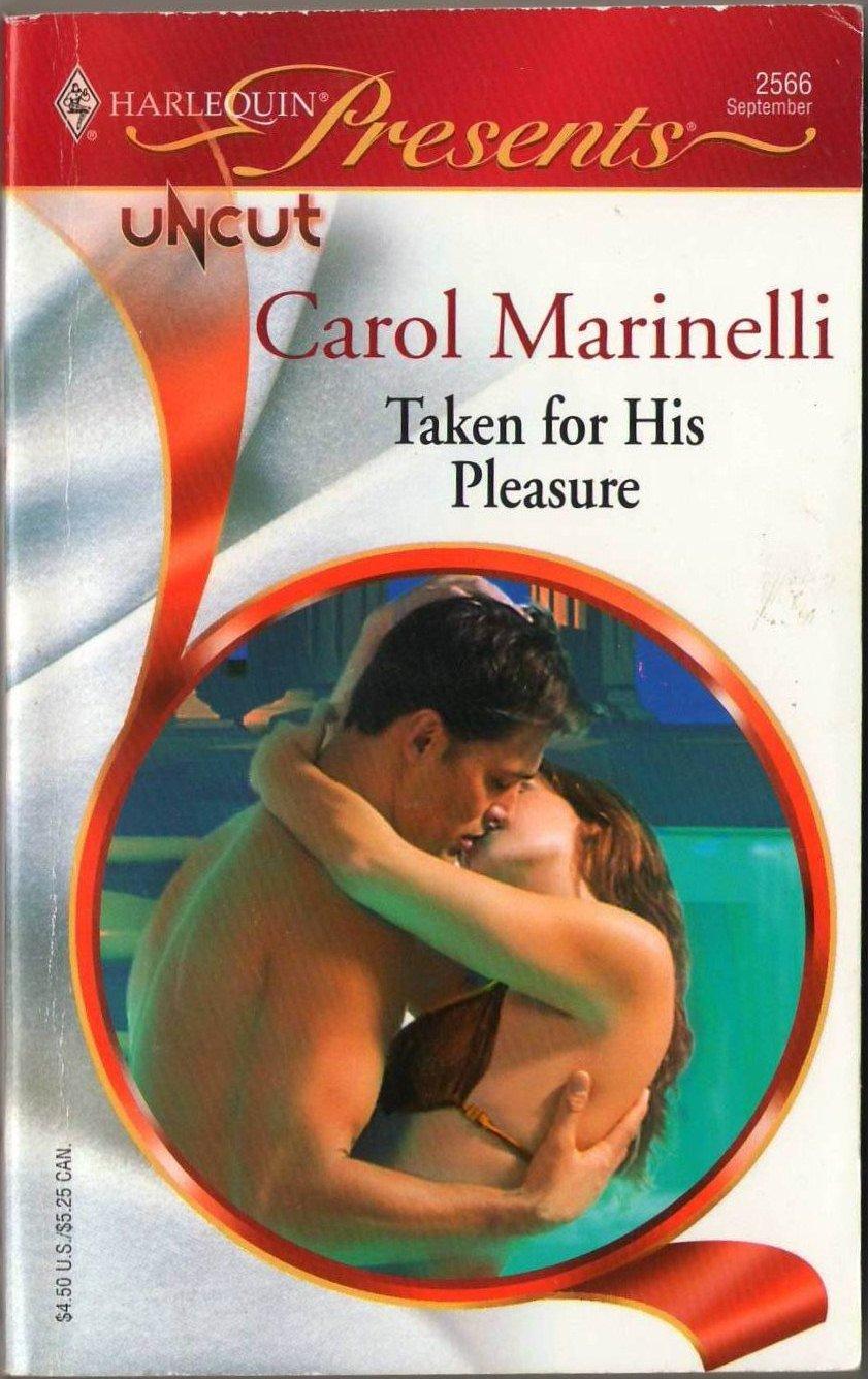 Taken For His Pleasure by Carol Marinelli Harlequin Presents Novel Book 0373125666