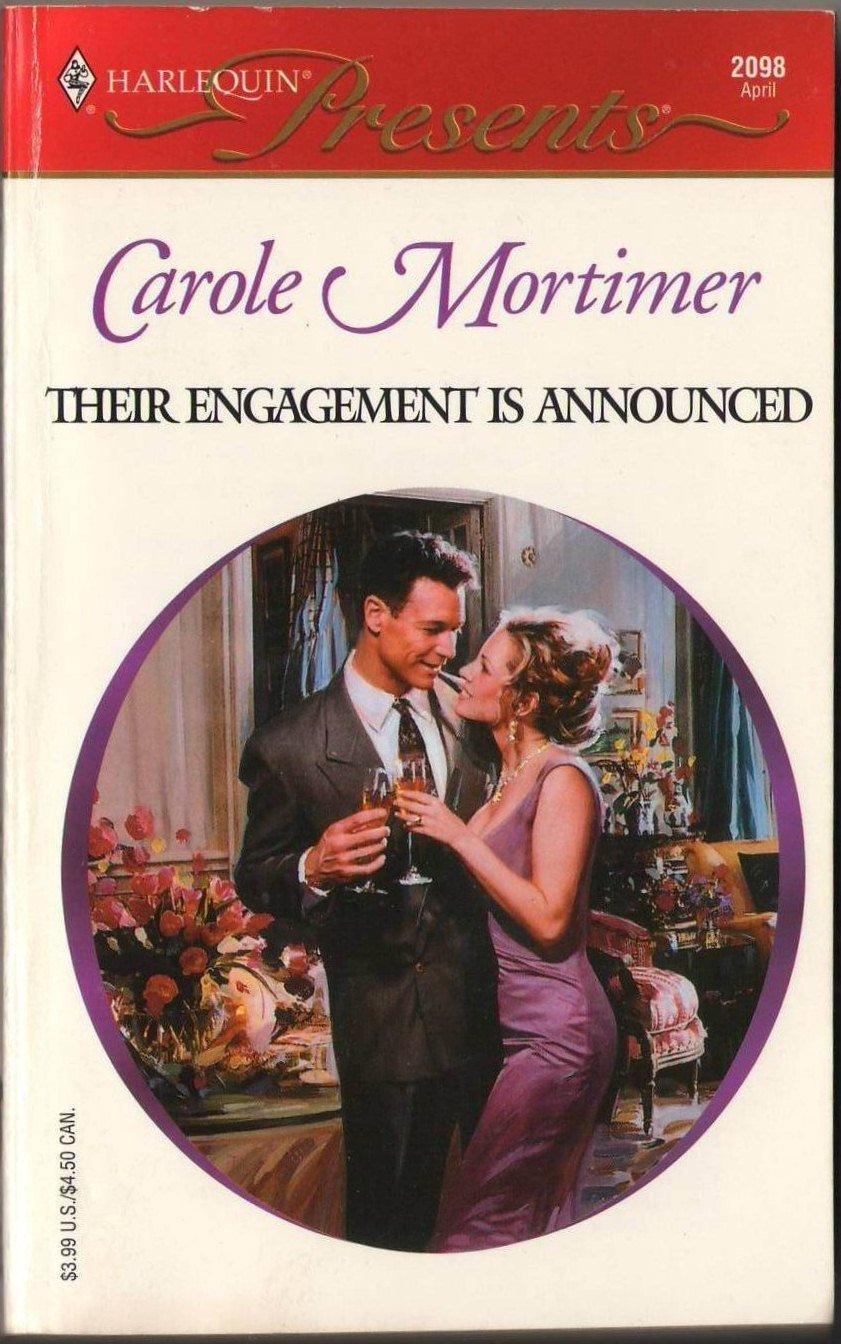 Their Engagement Is Announced by Carole Mortimer Harlequin Presents Book 0373120982