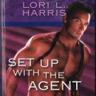 Set Up With The Agent by Lori L. Harris Harlequin Intrigue Fiction Novel Book 0373693125