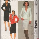 McCall's 8494 D Misses' Size 18 Bust 40 Double-Breasted Jacket Straight Skirt Uncut Sewing Pattern