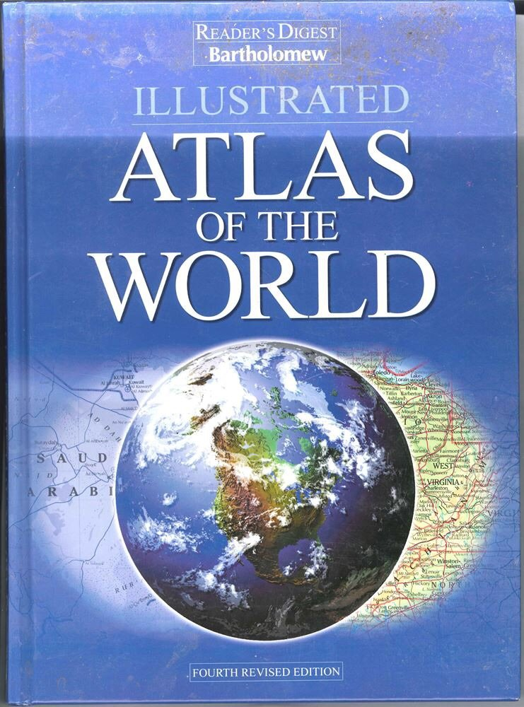 Atlas Of The World Fourth Revised Edition Illustrated Hardcover SMC