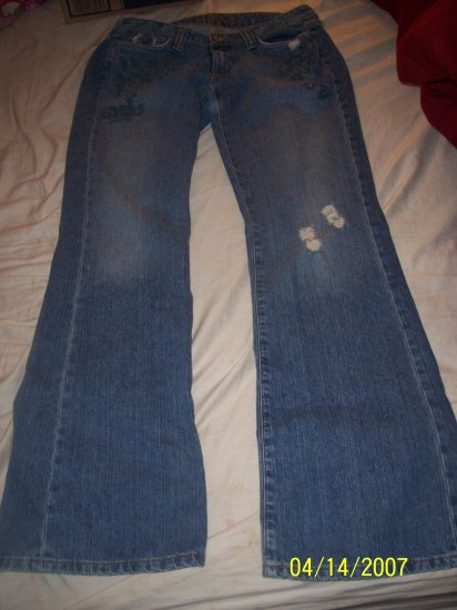 Hippie Destroyed Flare Leg Jeans Womens 30 X 32  Free Shipping