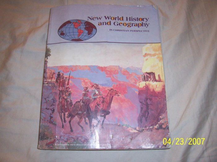 Abeka New World History and Geography Student Text  Free Shipping