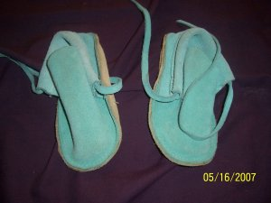 Genuine Leather Moccasins Toddler Size 4  FREE SHIPPING