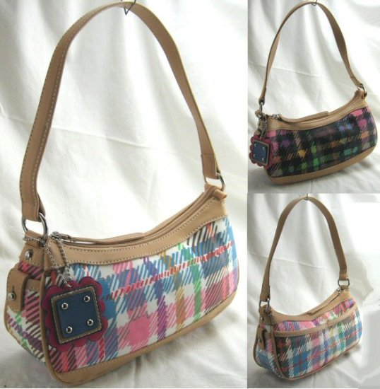 Small Handbags with Trendy Plaid Design