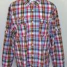 Parish Nation Men's Multi Color Plaid Long Sleeve Button Up Shirt Size 2XL