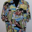 Paradise Found Men's Hawaiian Eagles Tigers Bears Animal Designs Shirt Size XL