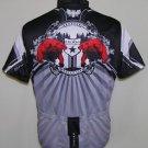 Primal Pheonix Bird Men's Black Gray Cycling Bicyle Jersey Size Large