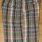 Polo Ralph lauren Mens Multi Color Plaid Casual Golf Shorts Draw String Size 38W