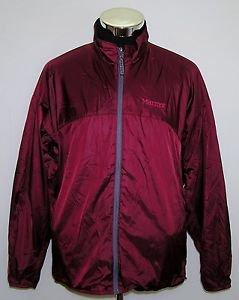 Marmot Unisex Soft Shell Burgundy Full Zip Vented Jacket Size XL/TG