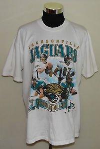 Jacksonville Jaguars Vintage Brunell Taylor Boselli McCardell T-Shirt XL w/Hat