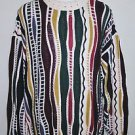 Structure Brand Cool Multi Colored Hip Hop Crew Neck Sweater Size Large