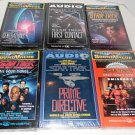 Star Trek Lot of 6 Audio Cassettes and 1 Compact Disk ENVOY Next Generation Etc.