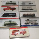 Readers Digest Lot of 9 Mini Trains and Fire Engines 1974 Mack 1948 Task Master