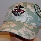 "Fellowship of Christian Athletes ""Get Focused"" Green Floral Golf Strapback Hat"