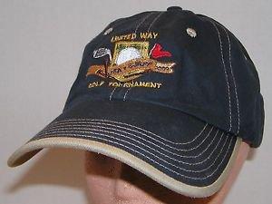 United Way 2009 Golf Tournament PGA Tour Blue Strapback Hat Baseball Cap
