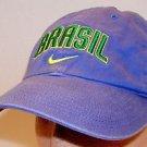 Nike Team Brasil World Cup Soccer FIFA Purple Baseball Cap Strapback Hat