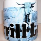 Merrill Lynch Bank Insurance Jacksonville Fl. Raised Letters Bull Coffee Cup Mug