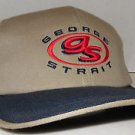 George Strait Country Music Concert Tour Vintage Leather Strapback Hat Cap