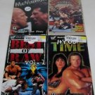 WWF Wrestling Lot of 4 New Sealed VHS It's Our Time Chyna, Best of Raw, Austin