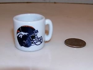 Denver Broncos NFL Football Vintage 1990s Mini Mug Cup Shot Glass Peyton Manning