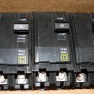 Square D QO245 45 Amp Lot of 5 2-Pole Plug On Circuit Breakers 120/240V