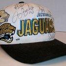 Jacksonville Jaguars Team Autographed Snapback Hat Jimmy Smith Tony Bracken Etc.