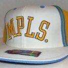 Minneapolis Lakers Retro NBA Reebok D'funkd Flat Brim Hat Size 7 1/4 Kobe Bryant