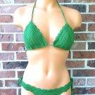 Forest Green Crochet Brazilian Cheeky Bikini by Vikni Crochet Designs