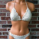 Brazilian Cheeky Crochet Bikini in Natural by Vikni Crochet Designs